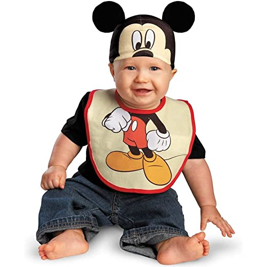 Disguise Costumes Drool Over Me Disney Mickey Mouse Infant Bib and Hat  Accessory ef8e56a0a3d8