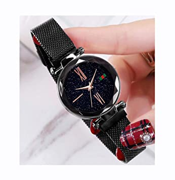 Hannah Martin SMAEL Electronic Magnetic Waterproof Watches Relojes de Pulsera para Mujeres,blackD5greenlabellabel: Amazon.es: Electrónica