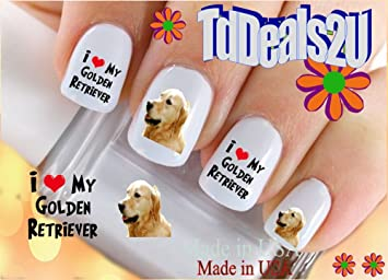 Amazon Dog Breed Golden Retriever I Love Nail Decals