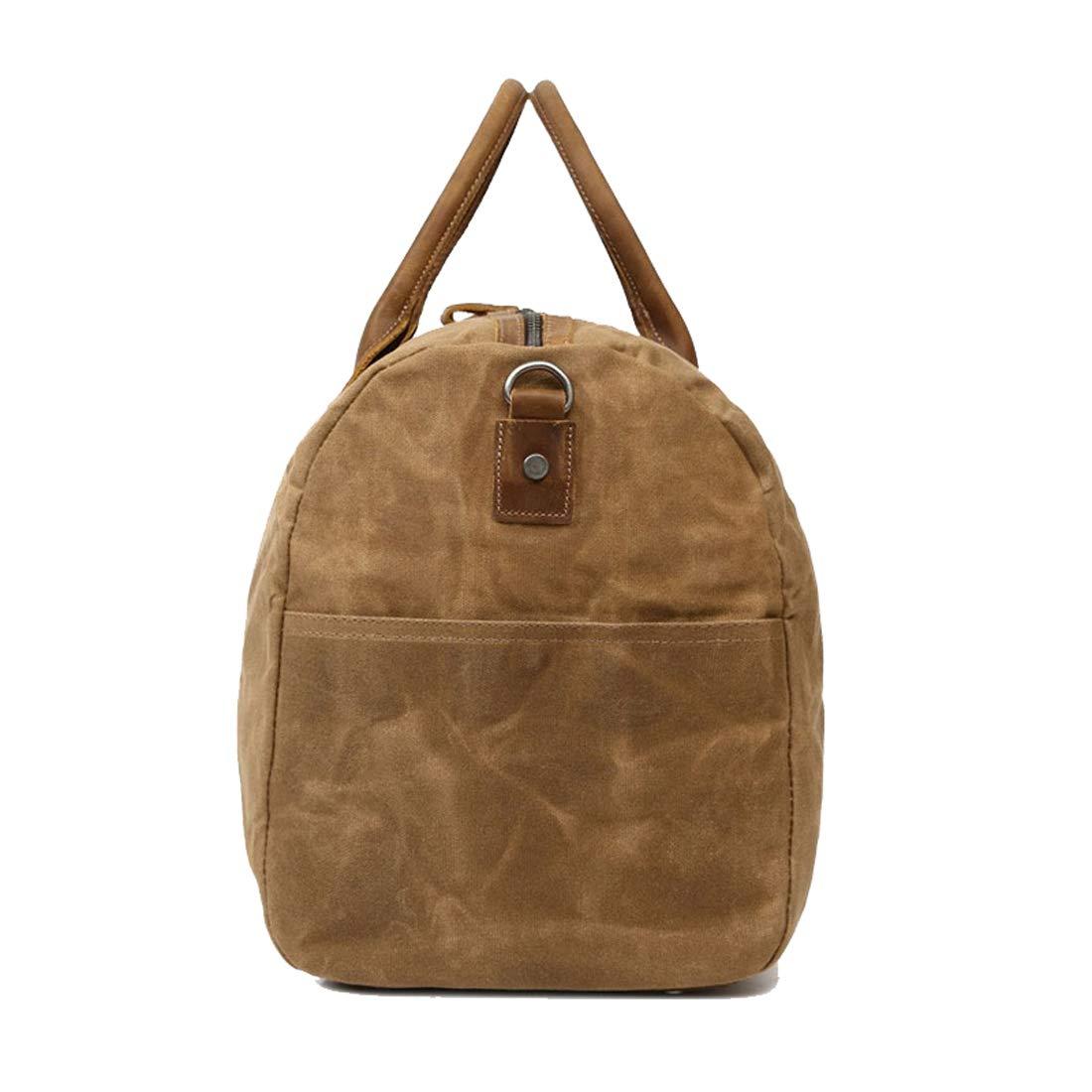 Berchirly Travel Duffel Bag Large Canvas Sports Hand Bags Vintage Weekender Luggage Bag