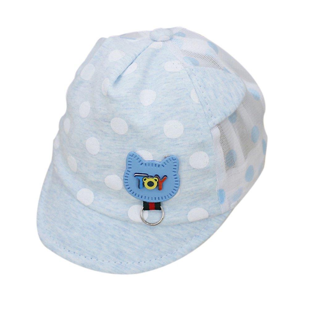 Sombrero recién nacido para niño gorra de béisbol de verano Punto impreso lindo Sombrero para bebé al aire libre para niña Shiningup