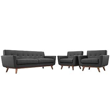 America Luxury - Sofa Juego de Tres sillones y sofá Modernos ...
