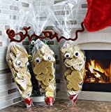 "200 15"" x 7"" Clear Cone-Shaped Treat, Favor & Popcorn Bags (200 Bags + 200 Twist Fastens); Large Cellophane Goody Bags"