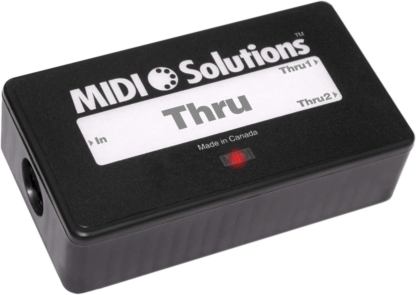 MIDI Solutions 2-Output Active MIDI Thru Box MIDISolutions MID-6032