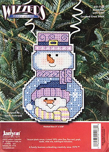 Janlynn Cross Stitch Kit, Snowman with Scarf -