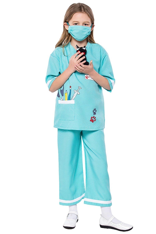 Dark Paradise Disfraz de policía para niños y niñas, Enfermera ...