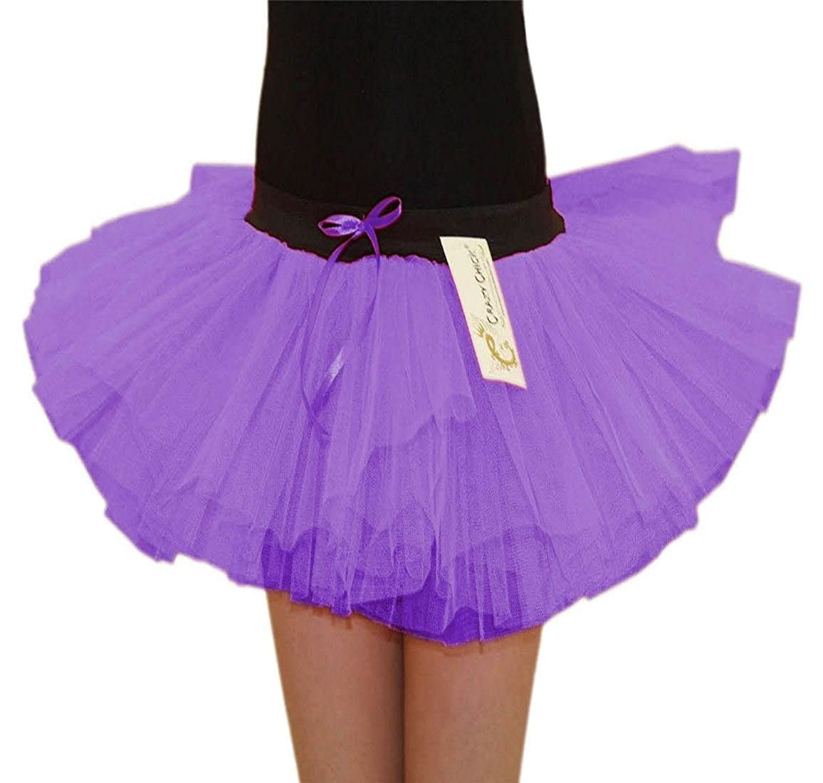 Rimi Hanger Girls 3 Layers Tutu Skirts Childrens 80s Dance Party Fancy Dress Accessory Skirt 5-10 Years