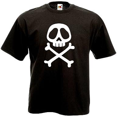 FUNNY SHIRT T-Shirt Tête de Mort albator - Vintage Skull Retro 80 s ... 026e7beb735d