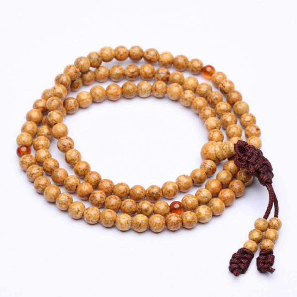 7 mm Aligeya Lot de 108 Perles de méditation Dragon Balls Bodhi 6 mm 8 mm, 7 mm