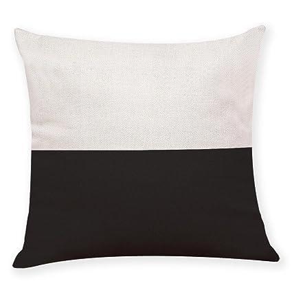 Almohada Funda De Cojín 45 cmx45 cm ronamick Home Decor almohada blanco y negro fundas de almohada Geometría almohada Lanzar Manta Cojín, c, 45cm*45cm