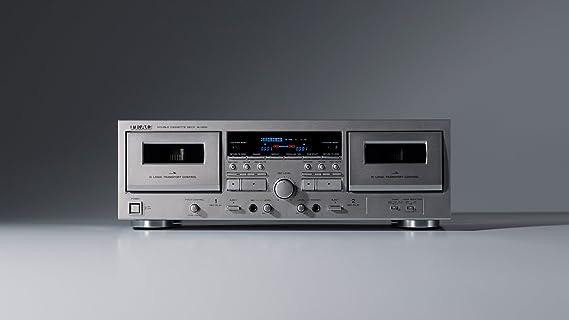 ティアック ダブルカセットデッキ(シルバー)TEAC W-1200