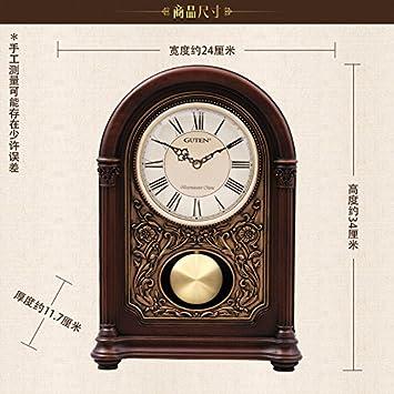 Y-Hui Base de Madera Sólida con el Reloj de Péndulo en Grandes Relojes Reloj Antiguo ...