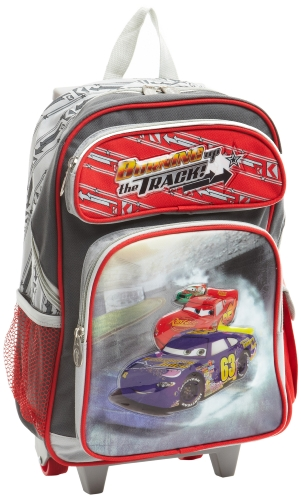 Disney By Heys Luggage Disney Burning Up The Track 17 Inch Soft Side Rolling Backpack, Cars, One Size, Bags Central