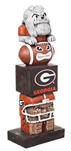 Team Sports America NCAA Georgia Bulldogs Tiki Totem