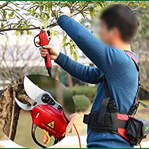TOPCHANCES Premium Electric 3.6V Pruning Shears Cutter Snip Hand Pruner Cutting Scissor Branch Cutter for Gardening Plant Fruit Tree Pruning Trimmer