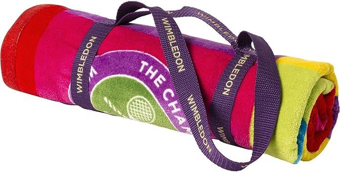 Wimbledon- Toalla de playa, diseño de Pelota de Tenis Pop: Amazon.es: Zapatos y complementos