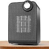 Small Space Heater, Indoor Oscillating Personal Heater, Over-Heat and Tilt Protection,1500/1000 Watt, Energy