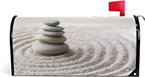 LOVIVI Zen Stones Magnetic Mailbox Cover Garden Home Decor Standard Size 20.8 x 18 Inch