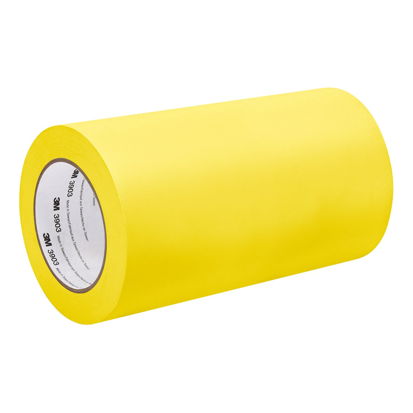 3M 3903 6'' X 50YD-Yellow Yellow Vinyl/Rubber Adhesive Duct Tape 3903, 12.6 psi Tensile Strength, 50 yd. Length, 6'' Width