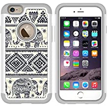 iPhone 6s Case, MagicSky [Shock Absorption] Studded Rhinestone Bling Hybrid Dual Layer Armor Defender Protective Case Cover For iPhone 6 (2014) / iPhone 6s (2015) - Elephant