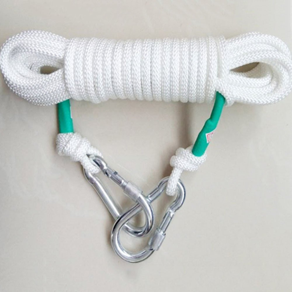 LDFN Rock Climbing Rope, Outdoor Climbing Rope, Steel Wire Core, Emergency Ropes, Safety Ropes,White-90m8mm by LDFN (Image #1)