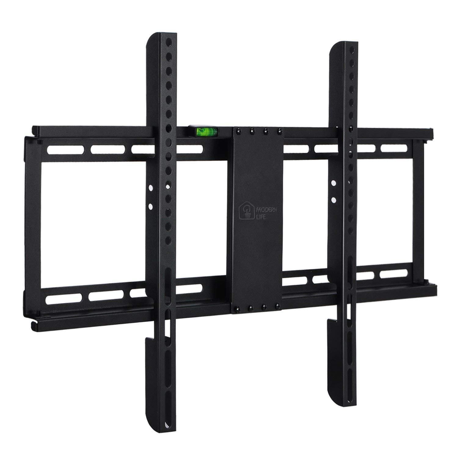 Happyjoy Ultra Slim 1'' Fixed TV Wall Mount Bracket for 32-70 Inch LED LCD Plasma HDTV Smart TV, Max VESA 600x400mm, Super Strong 165 LBS Capacity, Bubble Level Included