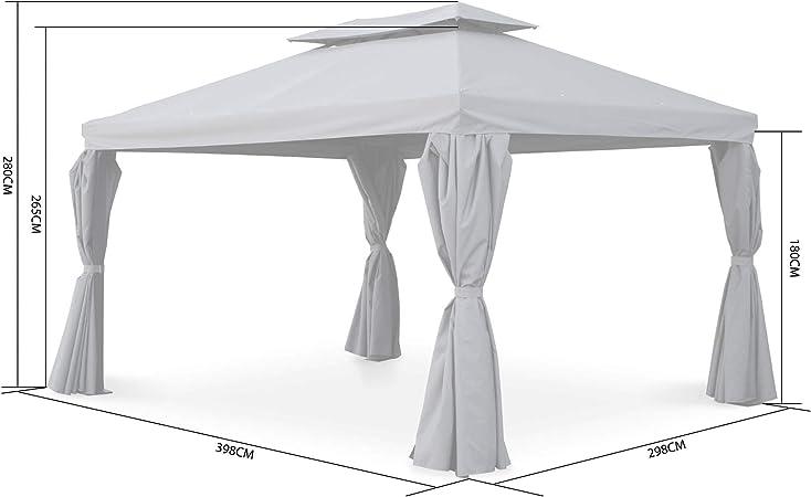 Alices Garden - Pergola Divodorum 3x4m con cortinas corredizas ...