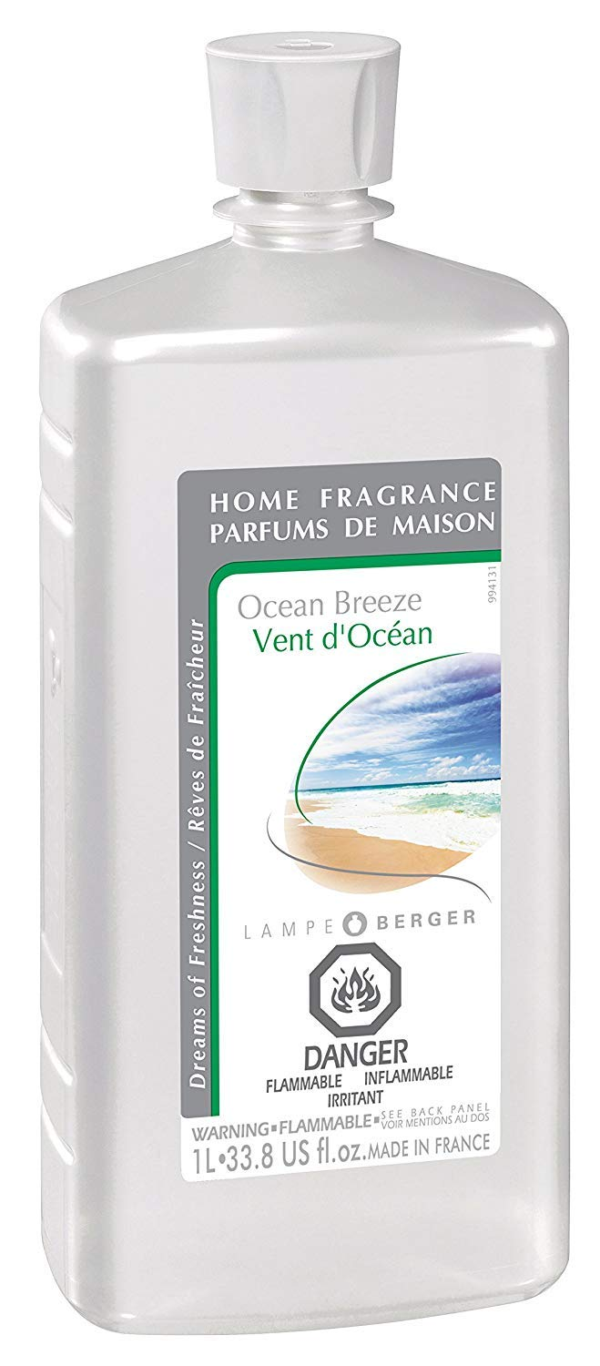 Ocean Breeze | Lampe Berger Fragrance Refill for Home Fragrance Oil Diffuser | Purifying and perfuming Your Home | 33.8 Fluid Ounces - 1 Liter | Made in France by MAISON BERGER