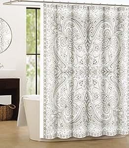 Amazon Com Tahari Luxury Cotton Shower Curtain Large