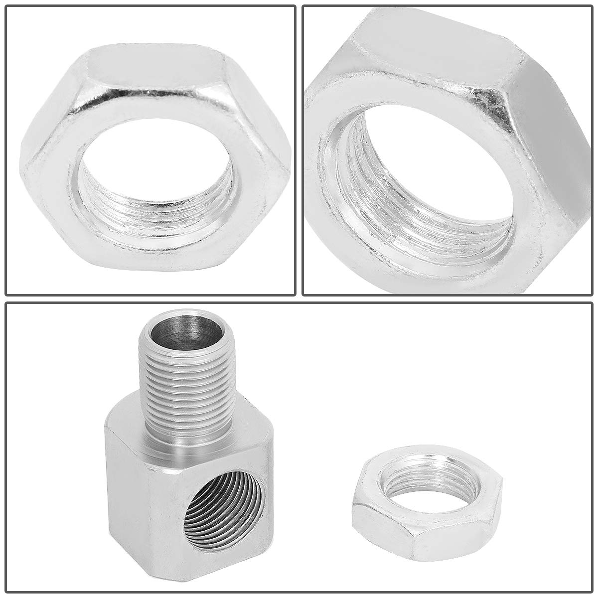 Pack of 2 M18 x 1.5mm O2 Sensor Spacer Adapter Extender w//90 Degree Angle Universal