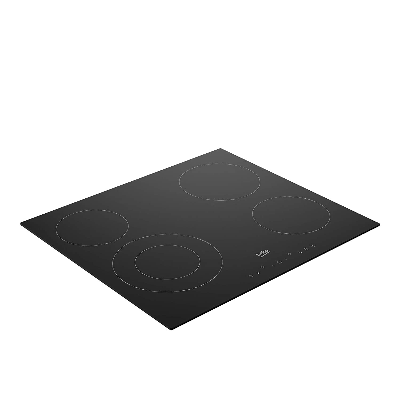 Beko HIC64402E Placa vitrocerámica 4 zonas, 6700 W, Cerámico, Negra