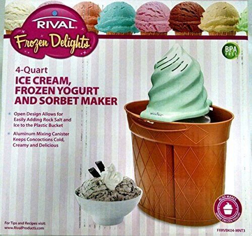 Rival 4 Qt Twisty IceCream Maker by Frozen Delights. (Rival 4 Qt Twisty Ice Cream Maker)