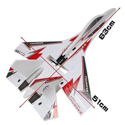 f18b75b7c51 Amazon.com  Tiean KT SU-27 Airplane Jet + 6CH RC Fighter Foam Glider ...