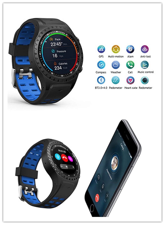 Xiao Ai's butik pekskärm + knapp smartklocka, Bluetooth-samtal, vattentät klocka, sportklocka, multifunktionell herrklocka Röd