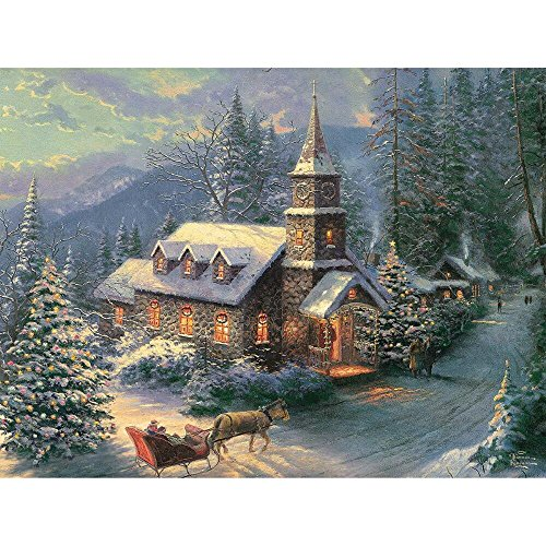 Ceaco Thomas Kinkade - Christmas Sleigh Ride - Holiday Puzzle (1000 Piece)