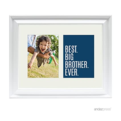 Amazon.com - Andaz Press Double White 5x7-inch Photo Frame, Best Big ...