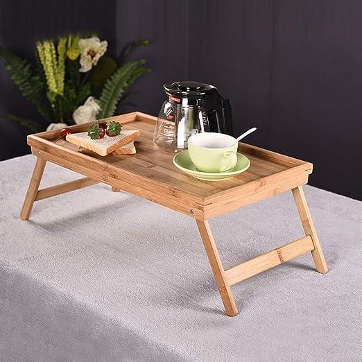 PingFanMi Mesas de Mes, Mesa de Desayuno de Madera con Patas ...