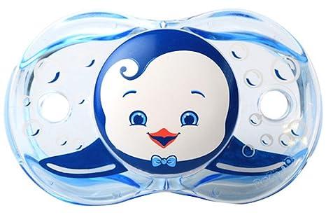 RazBaby - Chupete Perrita (tetina de silicona), pingüino azul (de ...