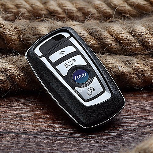 Real leather Keyless Smart Key Case Cover Trim for part of BMW F10 F20 F30 F13 F01 F25 3 or 4 buttons 1 3 5 7 series(Be sure check key shape and our pictures before you buy)