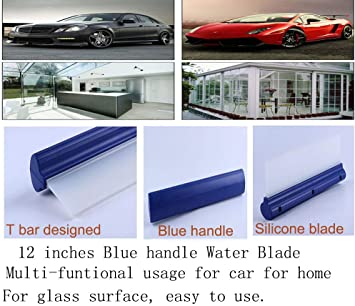 12/'/' Silicone Car Window Clean Squeegee Car Wash Dry Water Blade new AL