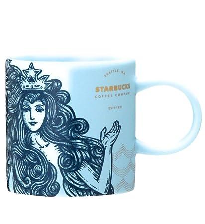 Amazon Com Starbucks Anniversary 2018 Blue Siren Mug 237ml