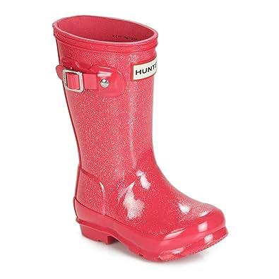 54944aa813de Hunter Kids Unisex Original Kids' Glitter Finish Wellington Rain Boots  (Toddler/Little Kid