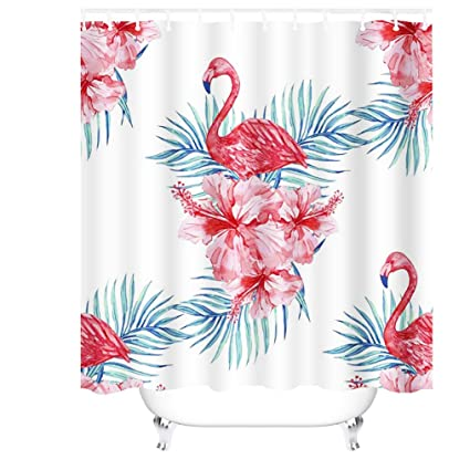 Merveilleux Image Unavailable. Image Not Available For. Color: Cheerhunting Pink Flamingo  Shower Curtain Set With Hooks ...