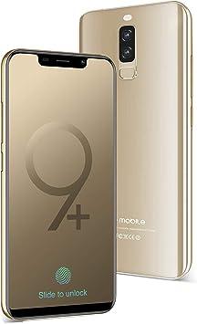 Moviles Libres Baratos 4G,S9 Pro 5,84 Pulgadas 16GB ROM 3GB RAM,4300mAh Bateria 13MP cámara, Teléfono Android 8.1 Quad-Core Dual SIM & Face ID Smartphone Baratos Libres(Oro): Amazon.es: Electrónica