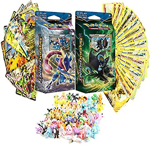 Pokemon XY Breakpoint Theme Decks Featuring Greninja and Luxray - FREE Random 6 Mini Figures and 1 EX or BREAK Evolution