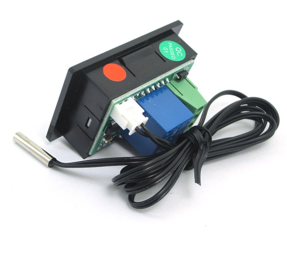 50-110 /° C Schwarz DollaTek DC12V Relais Digitale Thermostatregelung mit Temperaturregler Sensor