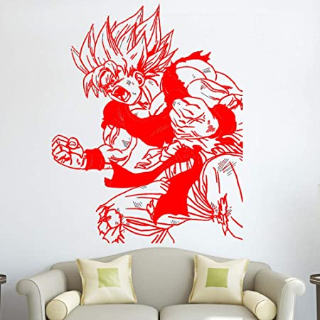 xingbuxin Kids Room Goku Tatuajes de Pared Dragon Ball Z Etiqueta ...