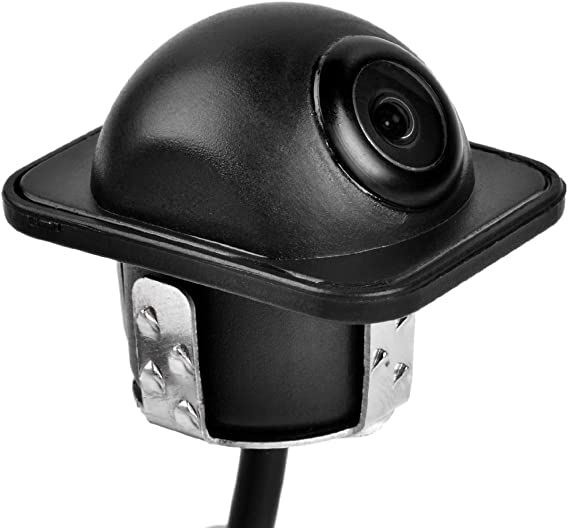 BW Car Flush Mount Rear View /& Side View Dual Use Backup Camera Waterproof Ip67 // Color CCD // 170 Degree Viewing Angle//Distance Scale Line