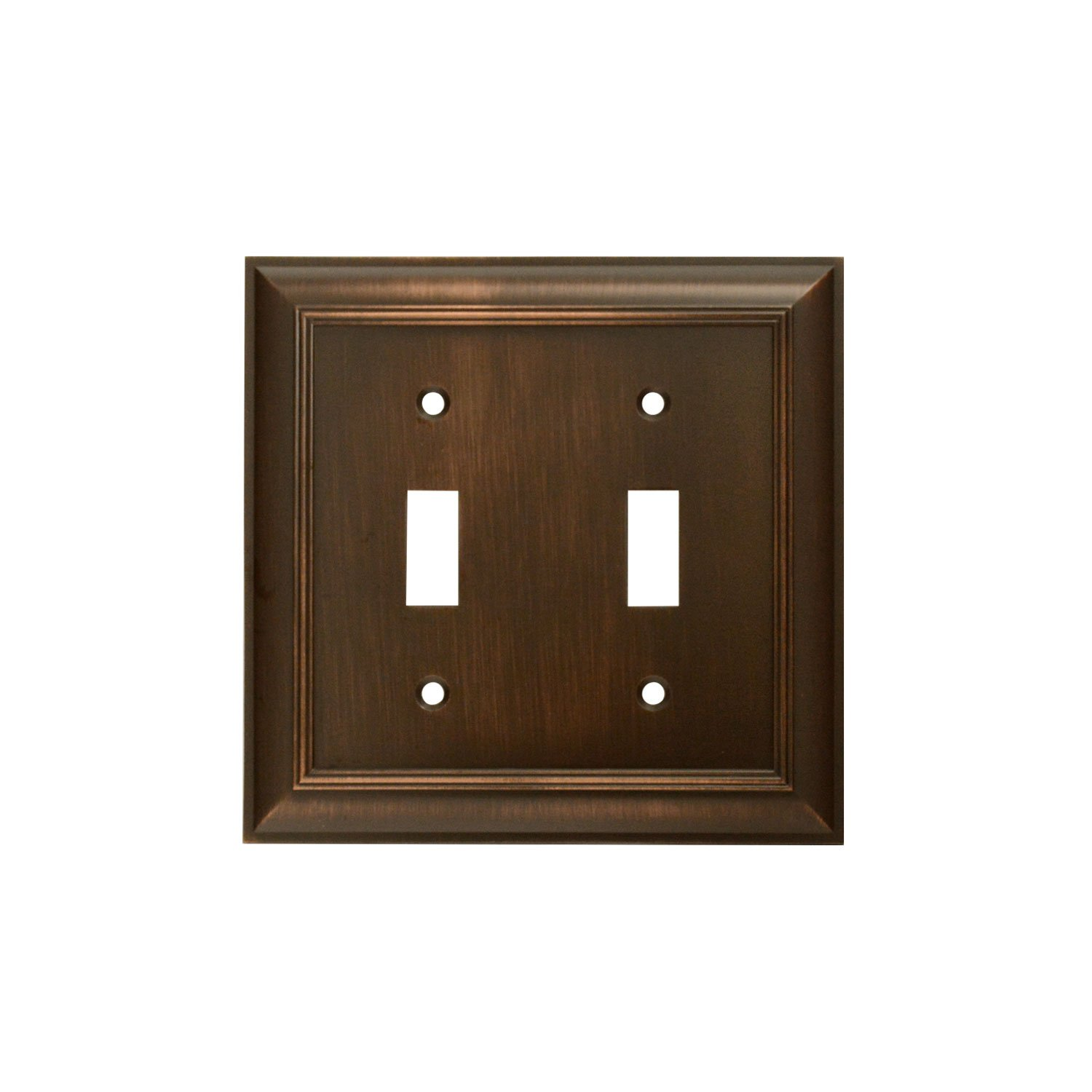 CKP Brand #31193 Double Switch Wall Plate, Oil-Rubbed Bronze