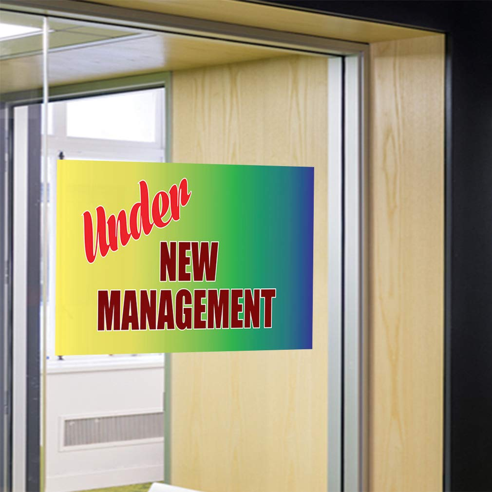 Decal Sticker Multiple Sizes Under New Management #1 Style N Business Under New Management Sign Outdoor Store Sign Yellow Set of 5 54inx36in